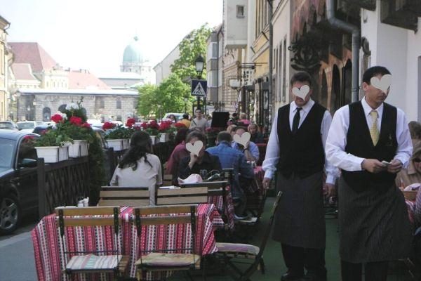 ブダペスト王宮の丘のレストラン