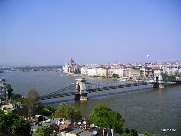 ブダペスト王宮からの眺め